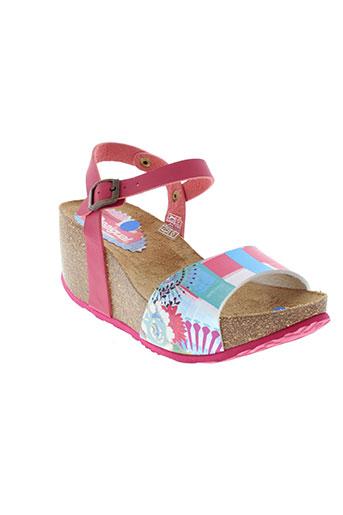 desigual sandales et nu et pieds femme de couleur rose