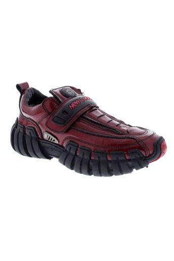 new rock chaussures femme de couleur rouge