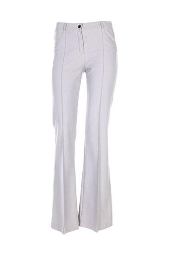 teenflo pantalons femme de couleur gris