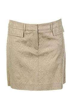 Mini-jupe beige TEENFLO pour femme