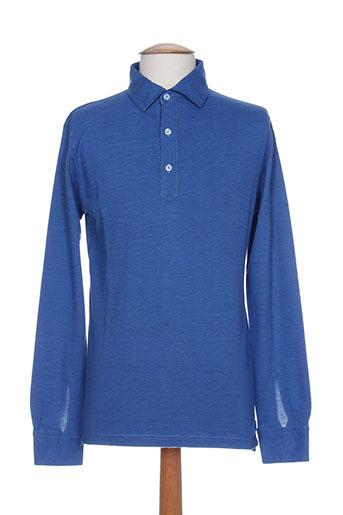 emmanuelle khanh t-shirts homme de couleur bleu