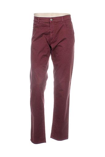 trussardi jeans pantalons homme de couleur rouge