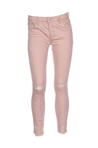 Pantalon casual rose DENIM pour femme