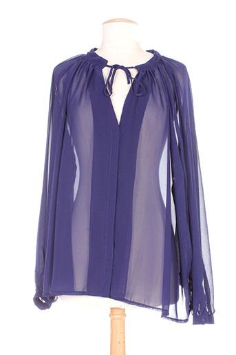 relish chemises femme de couleur bleu