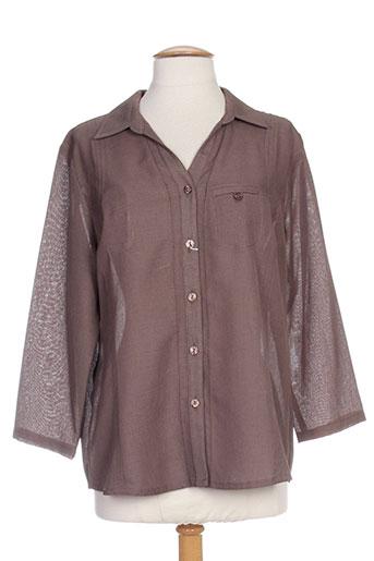 b de brel chemises femme de couleur marron