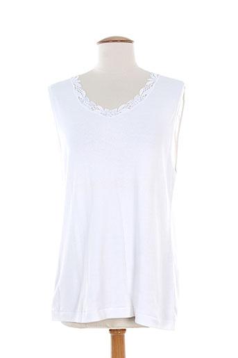 achel t-shirts femme de couleur blanc