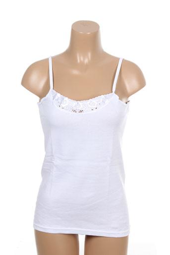 achel tops et caracos femme de couleur blanc (photo)