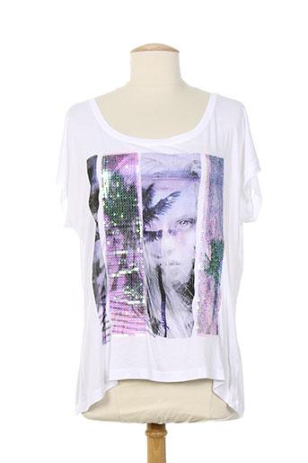 glüen t-shirts femme de couleur blanc