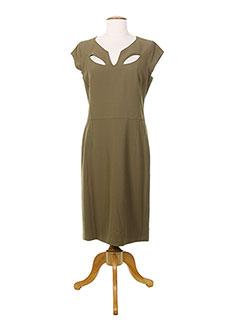 Robe longue marron HELENA SOREL pour femme