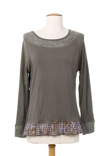 coco menthe t-shirts femme de couleur gris