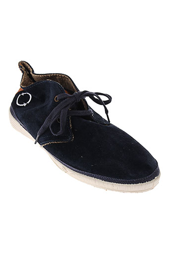 natural world chaussures homme de couleur bleu