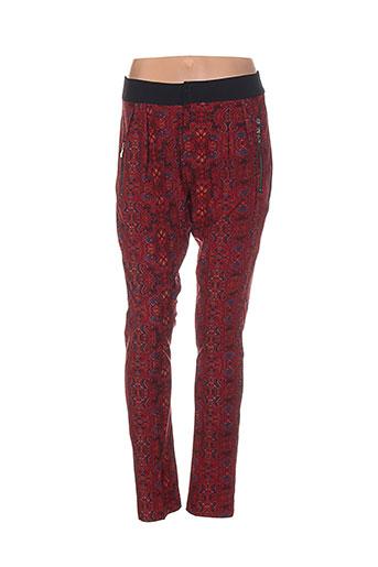 Pantalon casual rouge LES P'TITES BOMBES pour femme