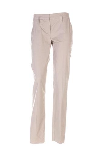 sportmax pantalons femme de couleur beige