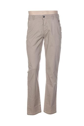 paul stragas pantalons homme de couleur beige