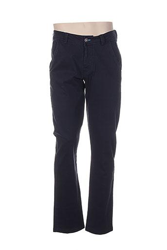 paul stragas pantalons homme de couleur bleu