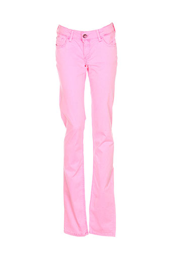 teddy et smith pantalons et decontractes fille de couleur rose