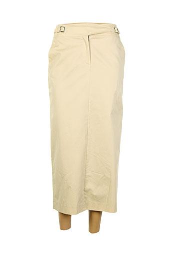irene van ryb jupes femme de couleur beige