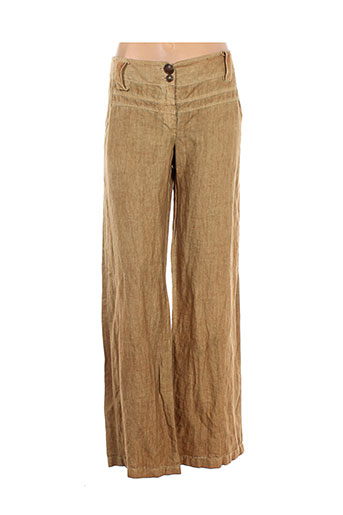 elisa cavaletti pantalons femme de couleur beige