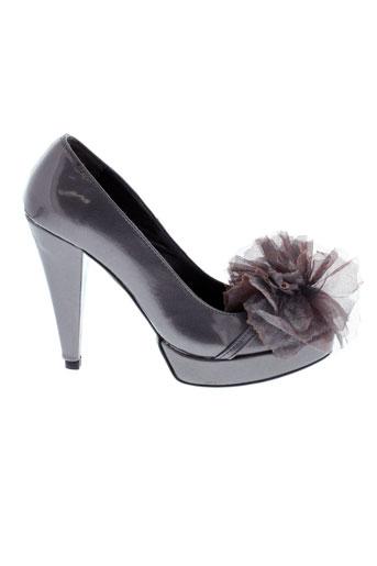 bijou et de et pied escarpins femme de couleur gris