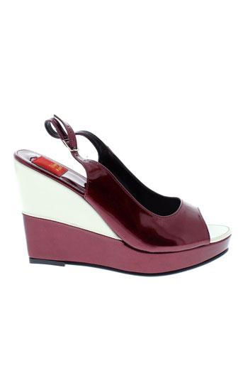 bijou et de et pied sandales et nu et pieds femme de couleur rouge