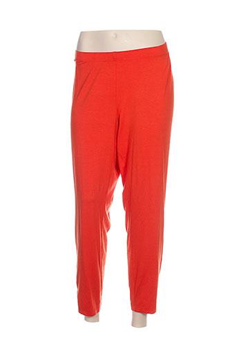 chalou pantalons femme de couleur orange