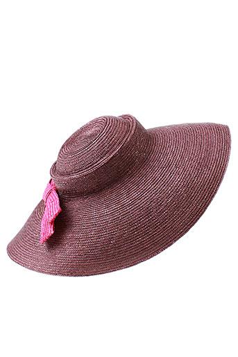 cheri et bibi chapeaux et bonnets femme de couleur violet