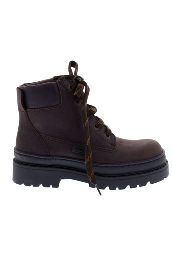 buggy boots garcon de couleur marron