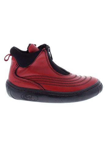 ddp boots fille de couleur rouge