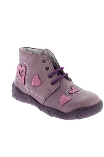 bellamy bottillons fille de couleur violet