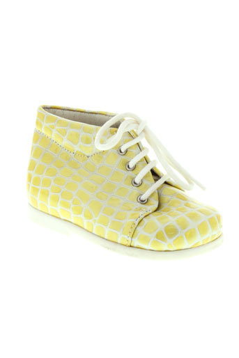 bellamy bottillons fille de couleur jaune
