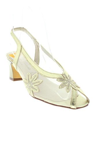 bel canto chaussures femme de couleur jaune