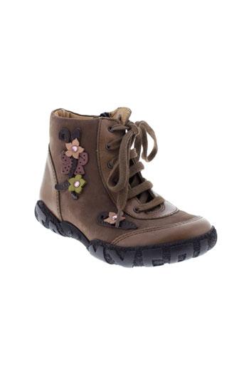 mod8 boots fille de couleur marron