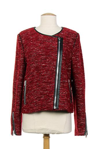 gerard darel vestes femme de couleur rouge
