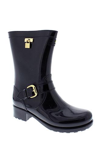 lemon et jelly boots femme de couleur noir