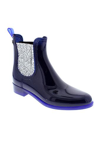 lemon et jelly boots femme de couleur bleu