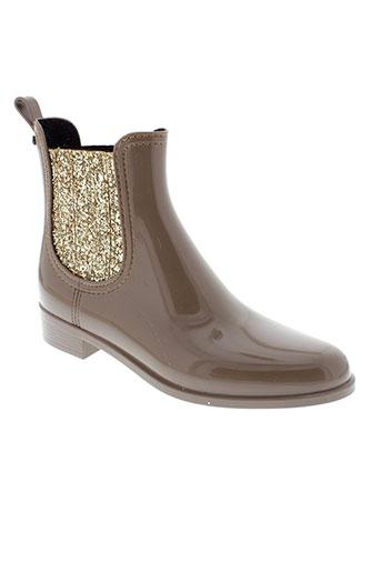 lemon et jelly boots femme de couleur marron