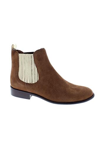 aliwell boots femme de couleur marron