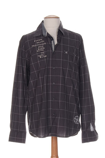 lerros chemises homme de couleur gris