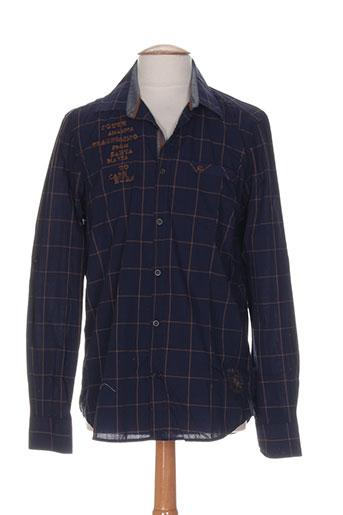 lerros chemises homme de couleur bleu