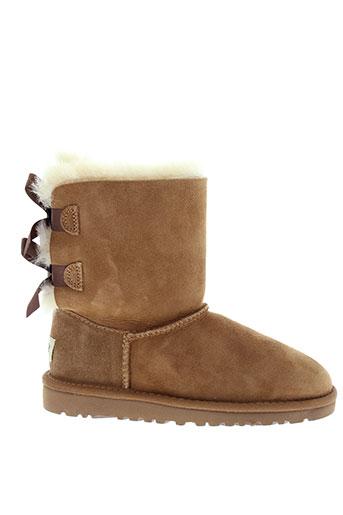 ugg boots fille de couleur marron