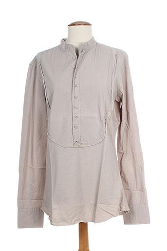 rg512 tuniques femme de couleur gris