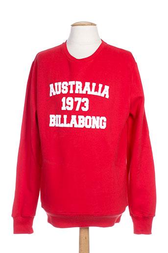 billabong sweats homme de couleur rouge