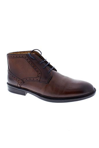 stressless boots homme de couleur marron