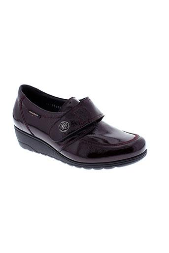 mobils chaussures femme de couleur rouge