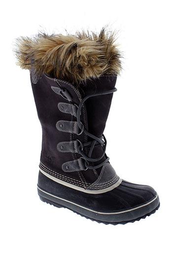 sorel bottes femme de couleur gris