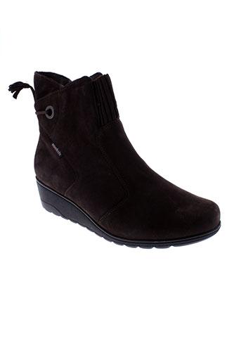 mobils boots femme de couleur marron
