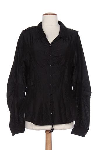 r867 chemises femme de couleur noir