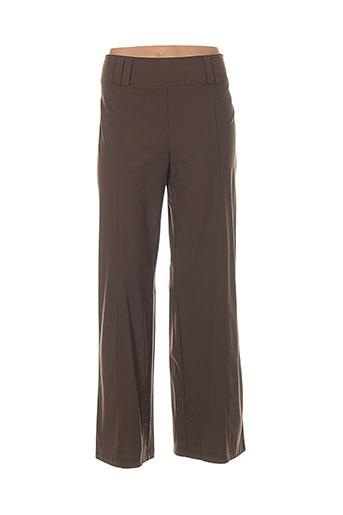 jc trigon pantalons femme de couleur marron