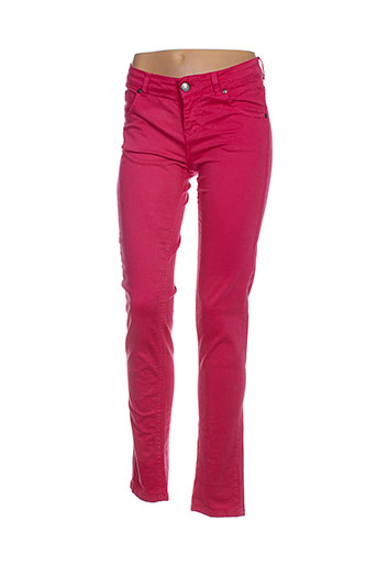 scee pantalons femme de couleur rose