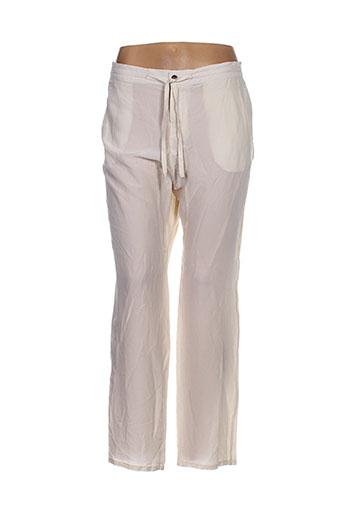 sack's pantalons femme de couleur beige